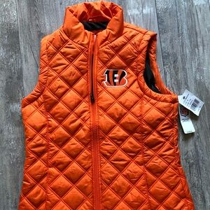 Women's NFL Apparel brand orange BENGALS vest